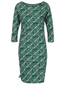 Krémovo-zelené vzorované šaty so zaväzovaním na boku Tranquillo Mauji