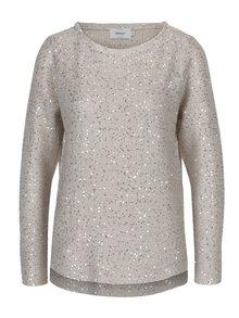 Béžový pletený sveter s flitrami ONLY Adele