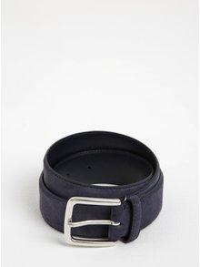 Tmavě modrý pánský semišový pásek GANT