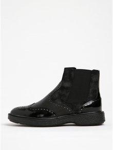 Čierne dámske kožené chelsea topánky Geox Prestyn D