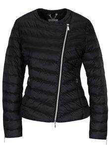 Čierna dámska funkčná prešívaná páperová bunda Geox