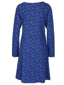Zeleno-fialové vzorované šaty s véčkovým výstrihom Tranquillo Axun