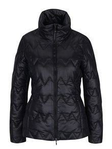 Čierna dámska prešívaná funkčná bunda s golierom Geox