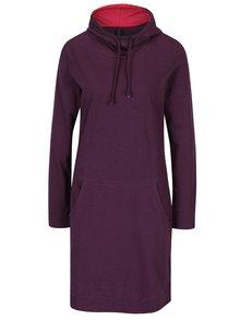 Tmavě fialové mikinové šaty s kapucí Tranquillo Estelle