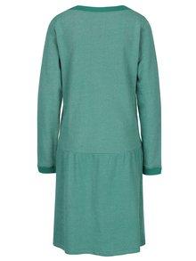 Zelené žíhané mikinové šaty s kapsami Tranquillo Fran