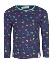 Tmavě modré holčičí tričko s motivem srdcí 5.10.15.