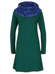 Rochie verde cu guler șal Tranquillo Valence