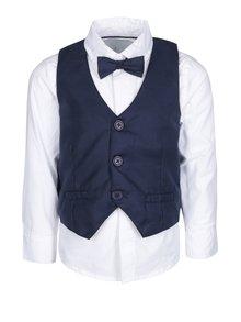 Tmavě modrý klučičí set košile s vestou 5.10.15.
