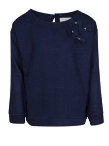Tmavomodré dievčenské tričko s dlhým rukávom 5.10.15.
