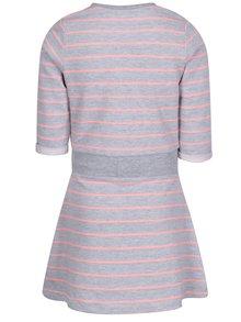 Šedé pruhované holčičí mikinové šaty 5.10.15.