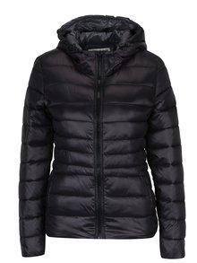Jachetă neagră matlasată cu glugă  - Haily's Dora