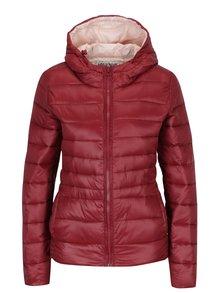 Cihlová prošívaná bunda s kapucí Haily´s Dora