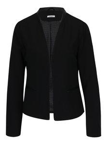 Čierne sako s koženkovými detailmi Haily's Nina