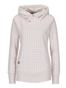Krémová dámská puntíkovaná mikina Ragwear Chelsea Dots