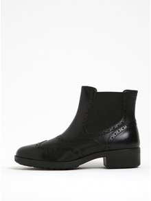 Černé dámské kožené chelsea boty Geox Ettiene B