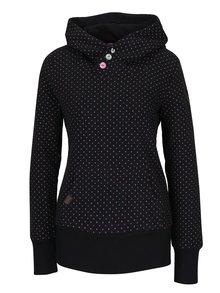Černá dámská puntíkovaná mikina Ragwear Chelsea Dots