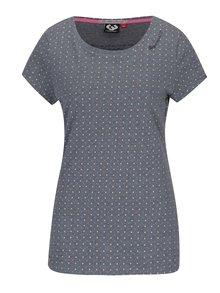 Šedé dámské puntíkované tričko Ragwear Mint Dots