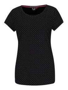 Černé dámské puntíkované tričko Ragwear Mint Dots