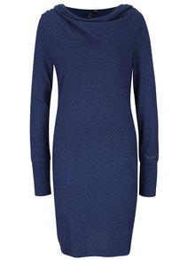 Tmavě modré vzorované šaty s dlouhým rukávem Ragwear River