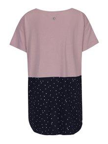 Modro-růžové dámské volné tričko Ragwear Bonny Organic
