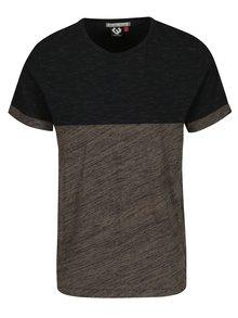 Čierno-zelené pánske melírované tričko Ragwear Geo