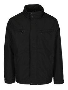 Čierna pánska bunda s kapucňou Geox