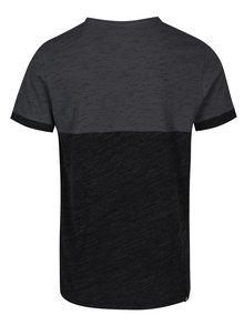 Sivo-čierne pánske melírované tričko Ragwear Geo