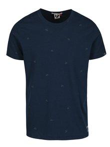 Tmavomodré pánske vzorované tričko Ragwear Dami