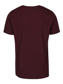 Vínové pánske vzorované tričko Ragwear Dami