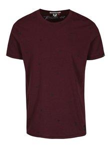 Vínové pánské vzorované tričko Ragwear Dami