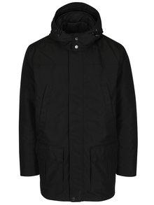 Černý pánský funkční kabát a prošívaná bunda 2v1 Geox