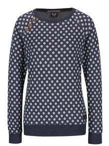 Tmavě modrá dámská puntíkovaná mikina Ragwear Daria Dots