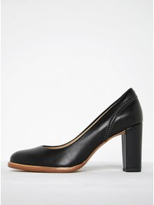 Čierne dámske kožené lodičky Clarks Ellis Edith