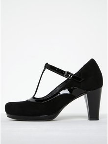 Pantofi negri cu baretă Clarks Chorus Pitch