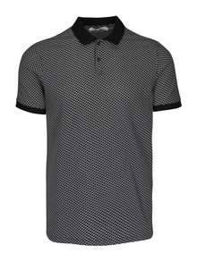 Bílo-černé polo tričko Jack & Jones Premium Smith Field