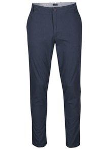 Modré vzorované slim fit chino kalhoty Jack & Jones Marco