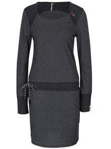 Tmavě šedé vzorované šaty s dlouhým rukávem Ragwear Mike Dress Organic