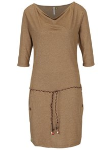 Hnedé šaty s vreckami Ragwear Tanya Mel Organic