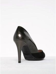 Pantofi negri&gri cu toc cui OJJU