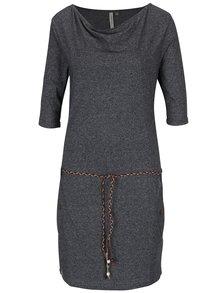 Tmavě šedé šaty s kapsami Ragwear Tanya Mel Organic