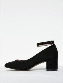 Pantofi negri cu toc și baretă pe gleznă OJJU