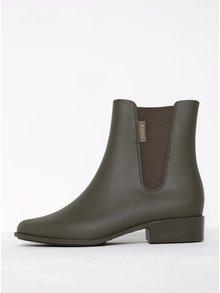 Khaki kotníkové boty s gumovou vsadkou Zaxy London Boot II
