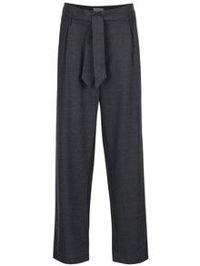 Pantaloni gri închis cu talie înaltă Selected Femme Lima