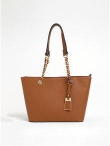 Hnedá kabelka s detailmi v zlatej farbe ALDO Jambu