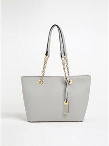 Svetlosivá kabelka so zlatými detailmi ALDO Jambu