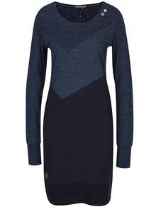 Rochie albastră cu mâneci lungi și buline Ragwear Viola Dress