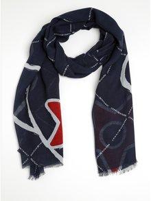 Tmavě modrý dámský šátek Tommy Hilfiger Corporate