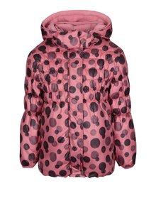 Ružová dievčenská prešívaná bodkovaná bunda Blue Seven