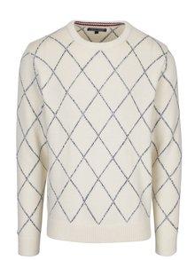Krémový pánský vzorovaný svetr s příměsí vlny Tommy Hilfiger Kion