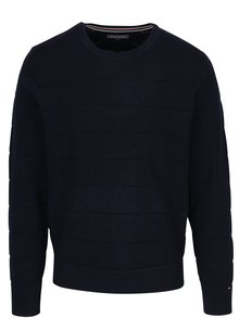 Tmavomodrý pánsky sveter Tommy Hilfiger Graphical